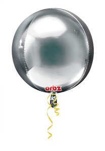 silver orbz balloon