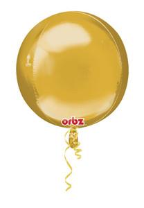 gold orbz balloons