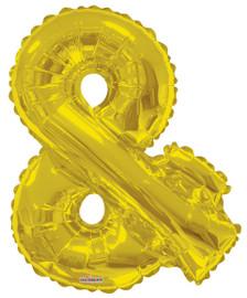 gold ampersand balloon &
