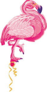 "**Special**35"" Flamingo Shape Foil Helium Balloon #a111236"