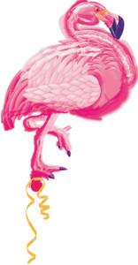 "**Special**35"" Flamingo Shape Foil Helium Balloon #a111236"