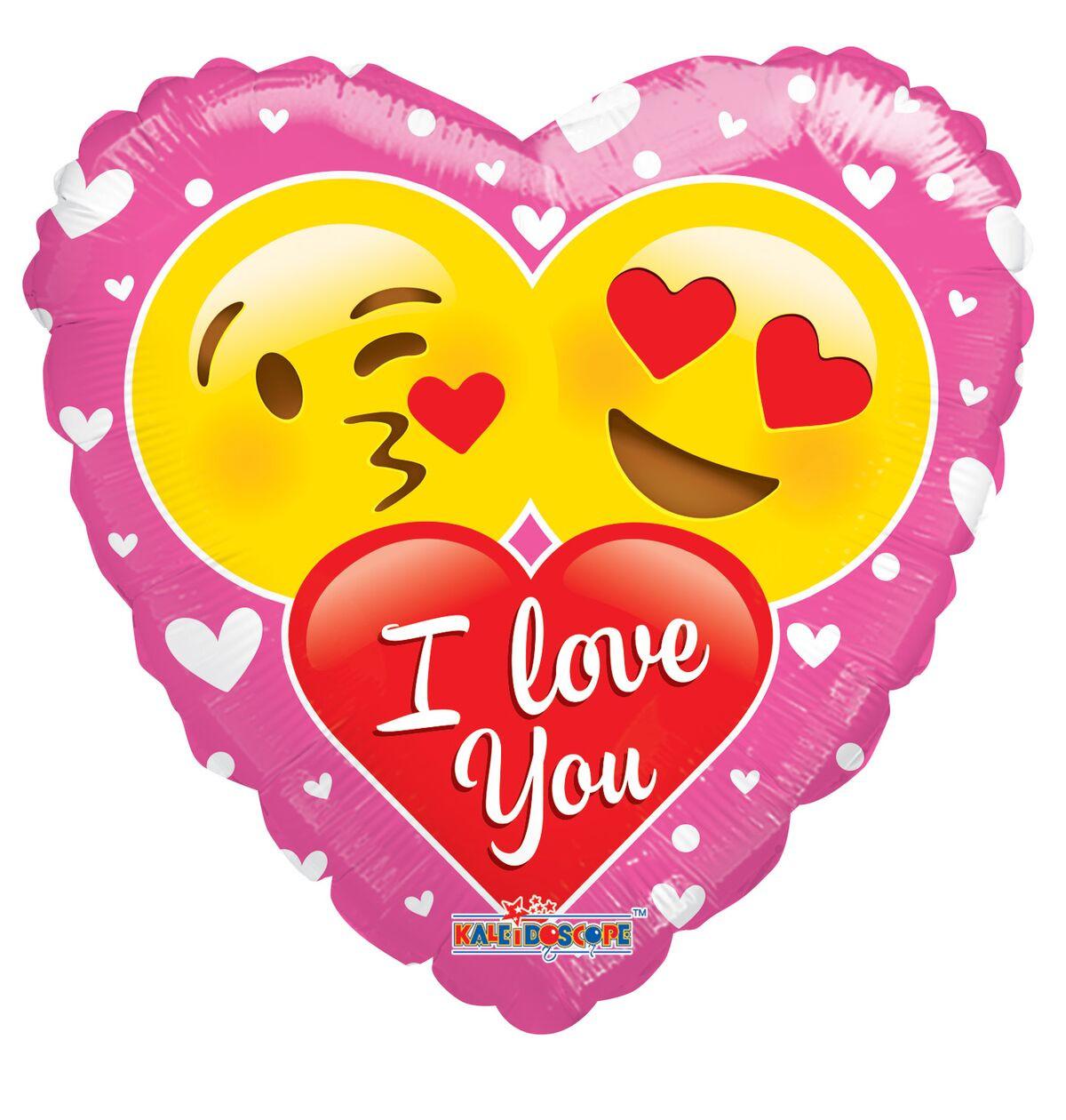 "Love Balloons 18"" I Love You Emoji Balloons 1ct #15701"