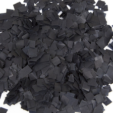 black confetti