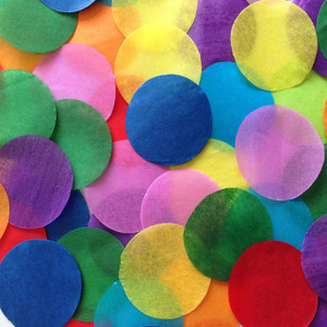 "Confetti 1"" Multi Color Circles Confetti Tissue 1LB Bag"