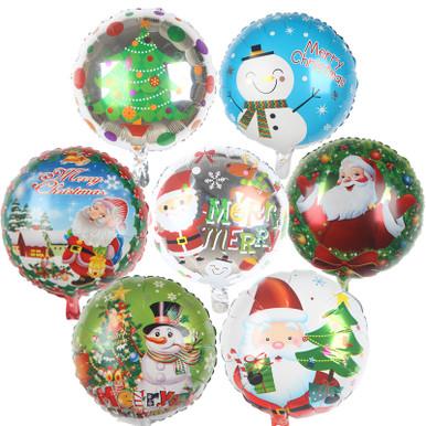 christmas holiday foil balloons