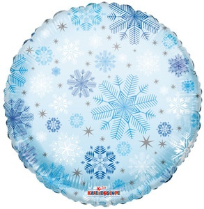 "18"" Snowflake Clear View Helium Balloon 1ct #15498"