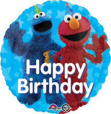 cookie monster elmo balloon
