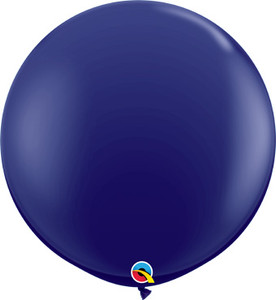 "36"" Qualatex Round Navy Blue Balloons 1ct #57129"