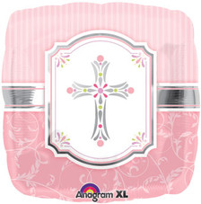 pink cross balloon