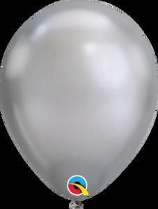 silver chrome balloons