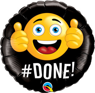 "18"" #DONE Graduation Emoji Thumbs Helium Balloon (1 Pack) #47431"
