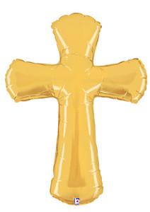 gold cross balloon