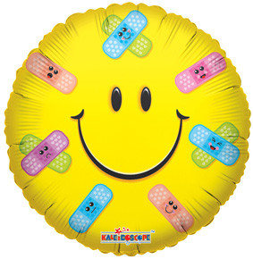 "18"" Get Well Smile Band Aids Helium Foil Balloon (5 PACK)  #11956"