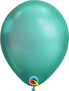 chrome green balloons