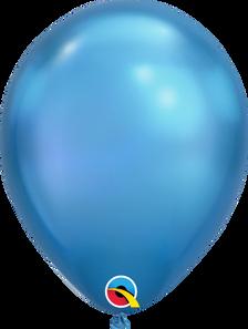 chrome blue balloons