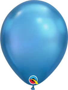 chrome blue balloons