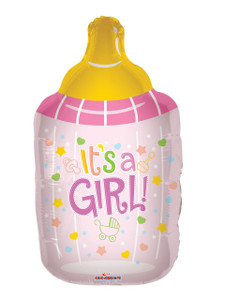 "36"" Baby Girl Bottle Shape Helium Balloon #19170"