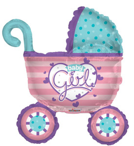 baby stroller balloon baby carriage balloon
