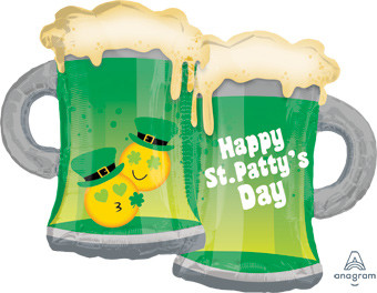 "32"" St. Patricks Beer Mug Shape Helium Foil Balloon 1ct #36455"