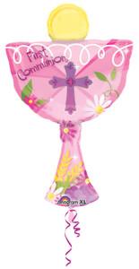 chalice balloon pink
