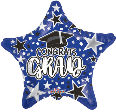blue graduation balloons