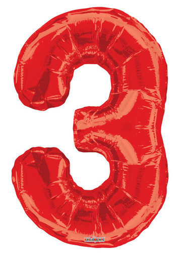 red number balloons red number 3