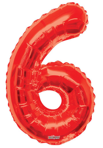 red number balloons red number 6 balloon