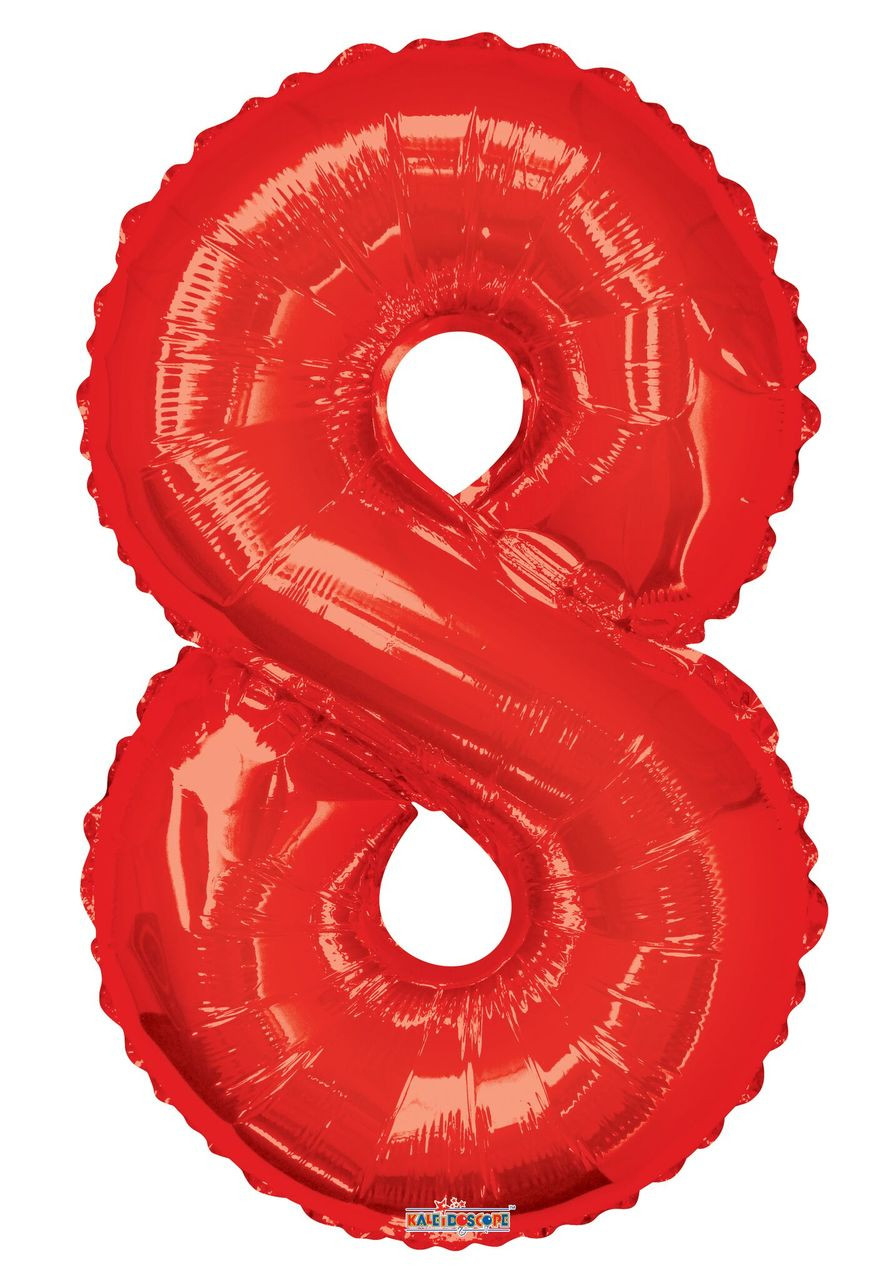 Red Number Balloons 34 U0026quot  Large Red Number 8 Balloons 1ct