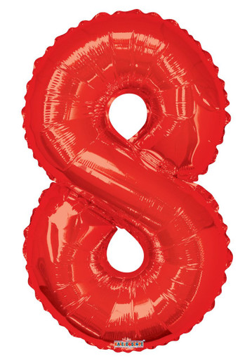 red number balloons red number 8 balloon