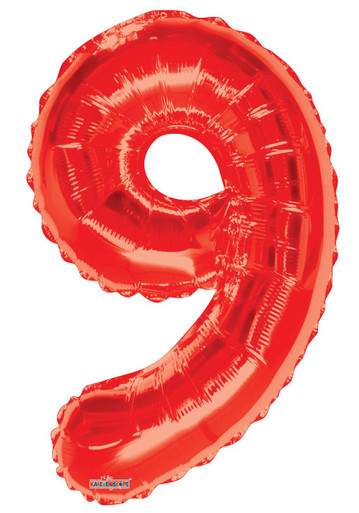 red number 9 balloon