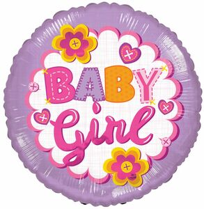 baby balloons, its a girl balloons