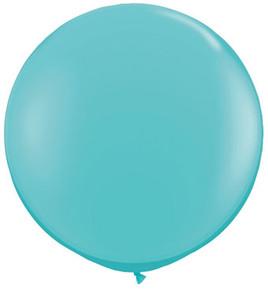 caribbean blue latex balloons