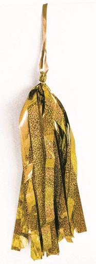 gold balloon tassel