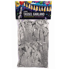 silver balloon garland