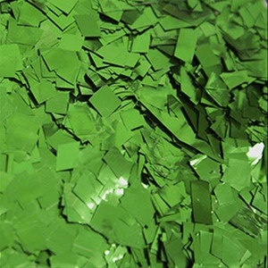 green metallic confetti