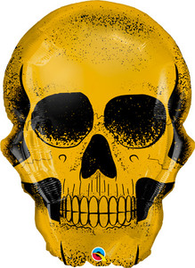 "24"" Golden Skull Helium Foil Balloon 1ct #58135"
