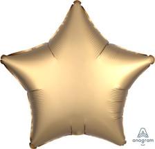 satin luxe gold star balloon