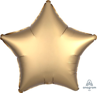 satin luxe gold star balloon