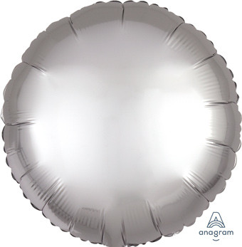 satin luxe silver circle balloon
