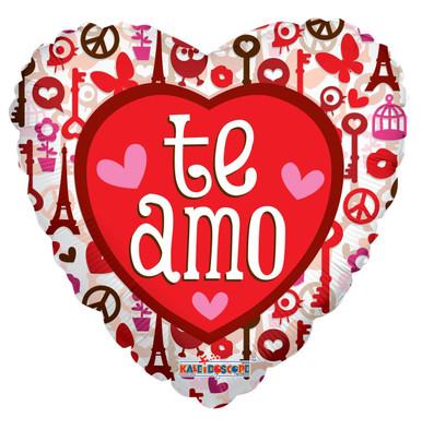 t amo balloons, spanish love balloons