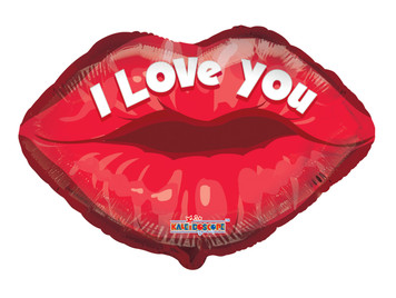 "18"" I Love You Lip Shape Helium Foil Balloon (5 Pack) #19828"