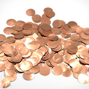 "Confetti 1"" ROSE GOLD Metallic Confetti Circles 1LB Bag #60801"
