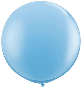 big pale blue balloon
