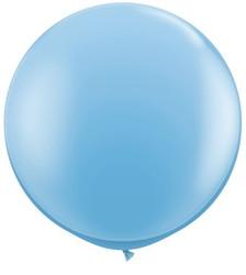big pale blue balloon