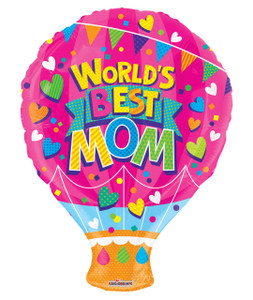 worlds best mom balloon
