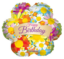 happy birthday flower shape