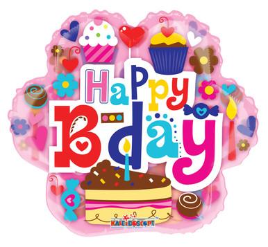 happy birthday cake balloons