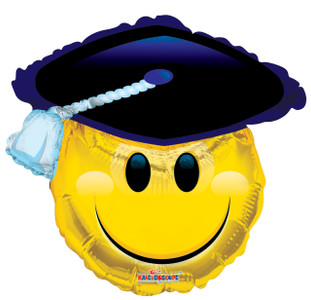 "28"" Smiley Cap Shape Graduation Balloon 1ct #85073"
