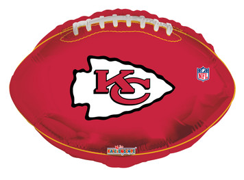 "18"" Kansas City Cheifs Football Shape Helium Foil Balloons 1ct #18097"