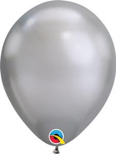 chrome silver balloons